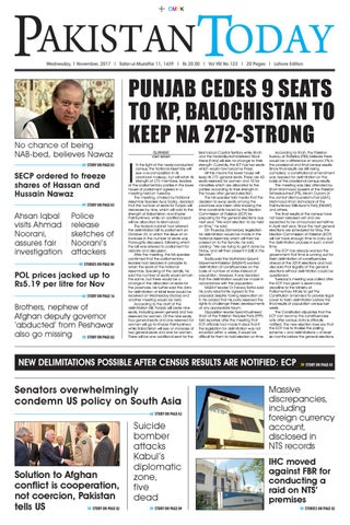 E paper pdf 1st november (lhr) by Pakistan Today - issuu