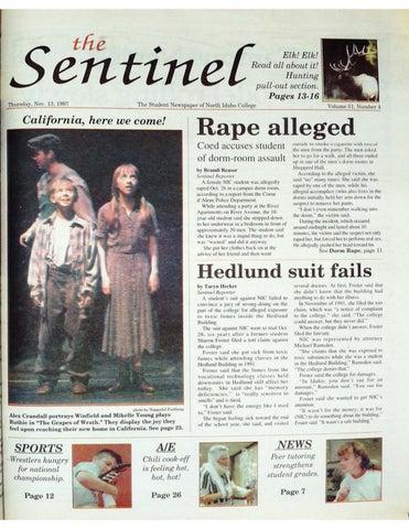 0c7360527320 The North Idaho College Sentinel Vol 51 No 4, Nov 13, 1997 by ...