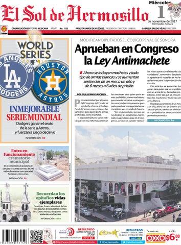 Edicion impresa 1 de noviembre by El Sol de Hermosillo - issuu