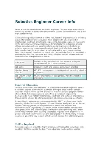 Robotics Engineer Career Info By Myrobostation Issuu