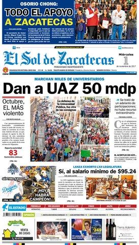 478a0d91b56c6 El Sol de Zacatecas 1 de noviembre 2017 by El Sol de Zacatecas - issuu