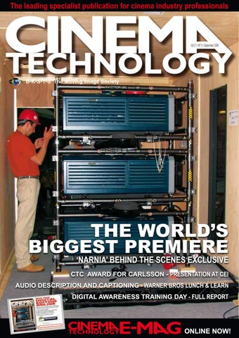 Cinema Technology Magazine - September 2008 by Cinema