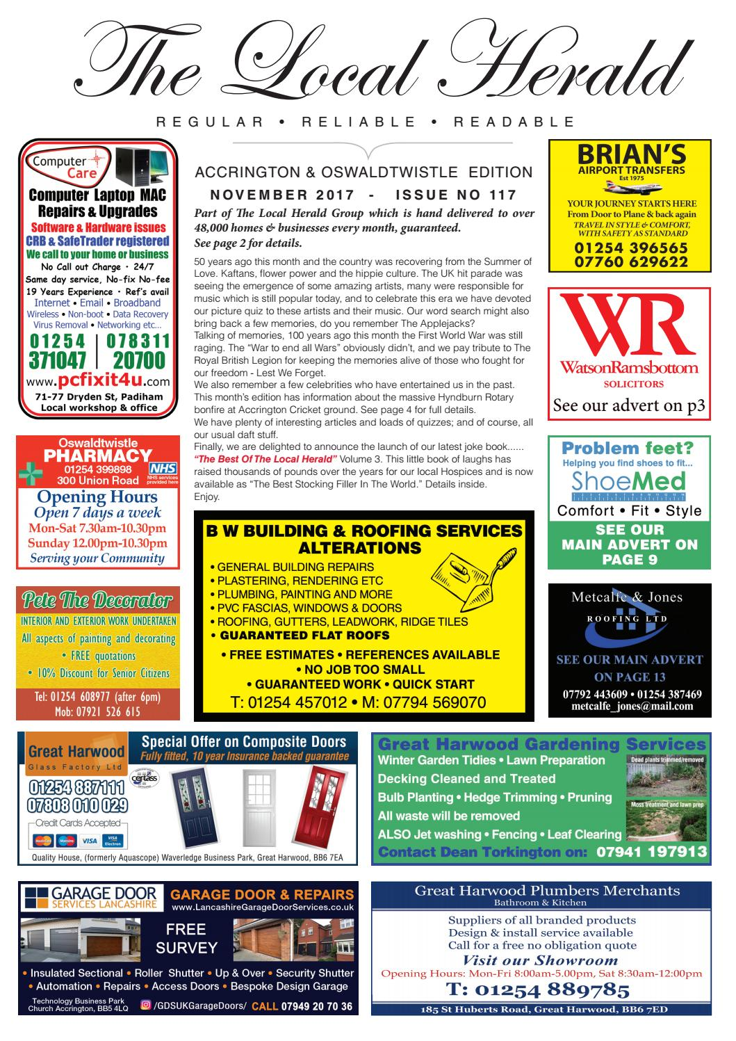 Accrington & oswaldtwistle the local herald nov 17 by The Local ...