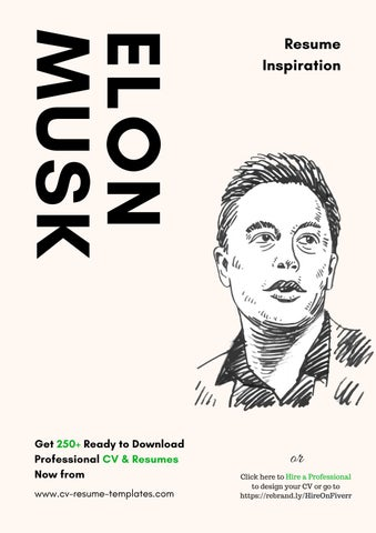 KSUM NOLE Get 250+ Ready To Download Professional CV U0026 Resumes Now From Www. Cv Resume Templates.com  Elon Musk Resume