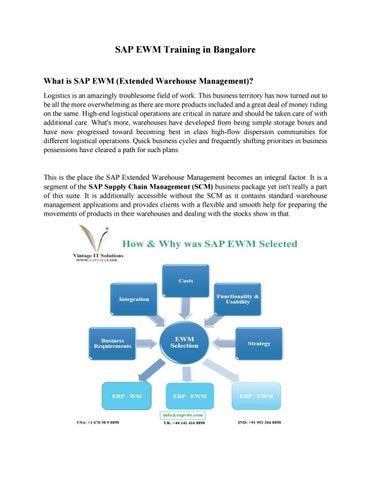 SAP EWM Material PDF | SAP EWM Online Training in Bangalore by Rajni