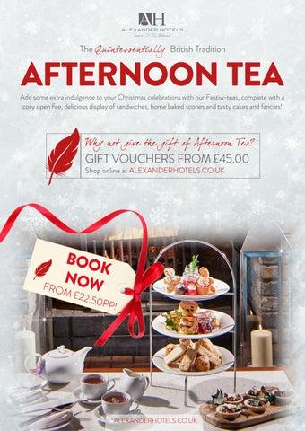 Festive Afternoon Tea Advert By Eleanor Hebe Roxburgh Issuu