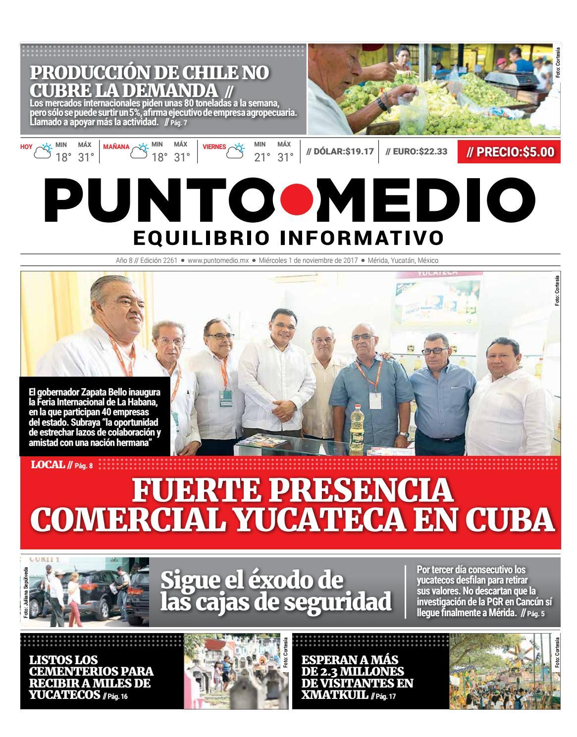 Edición impresa miércoles 1 de noviembre de 2017 by Punto Medio - issuu 6b70a81db45