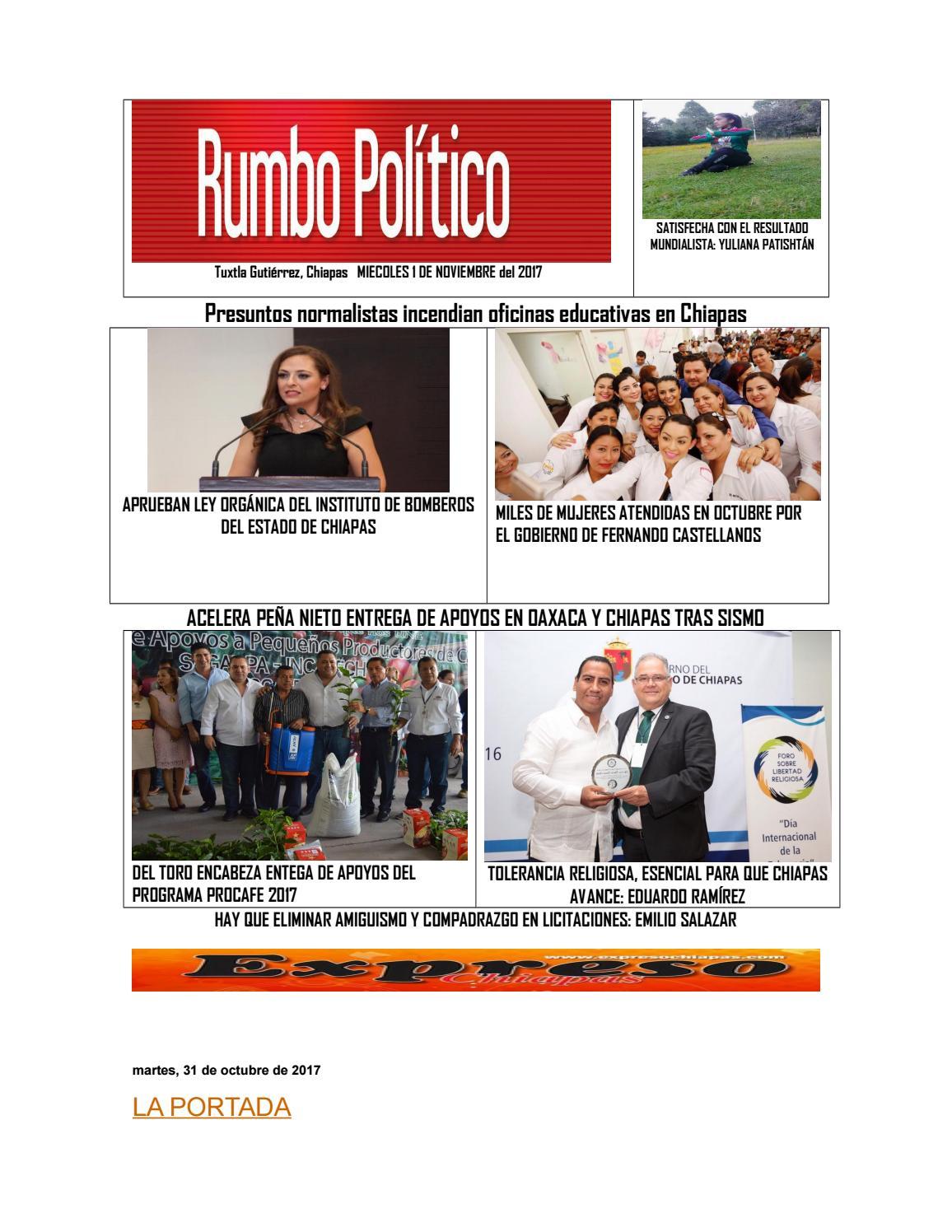 Issuu Miercoles 1 De Noviembre Rumbo Politico By Victor