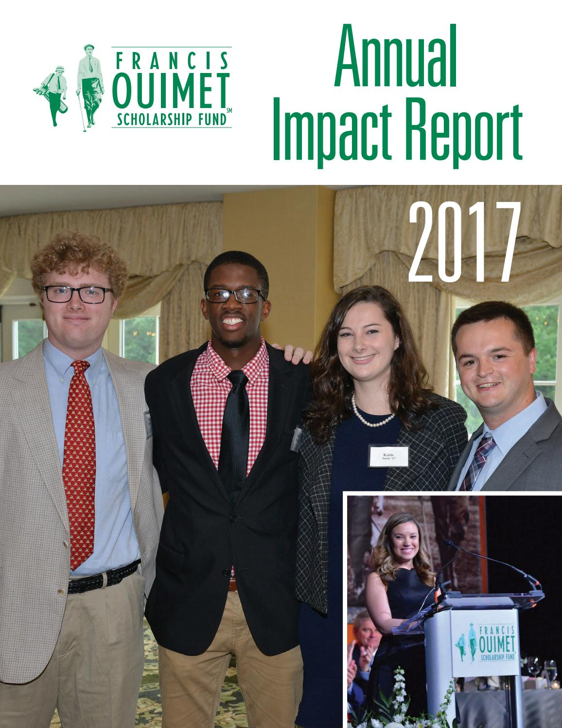 2017 Ouimet Fund Annual Impact Report By Francis Ouimet Scholarship Fund Issuu
