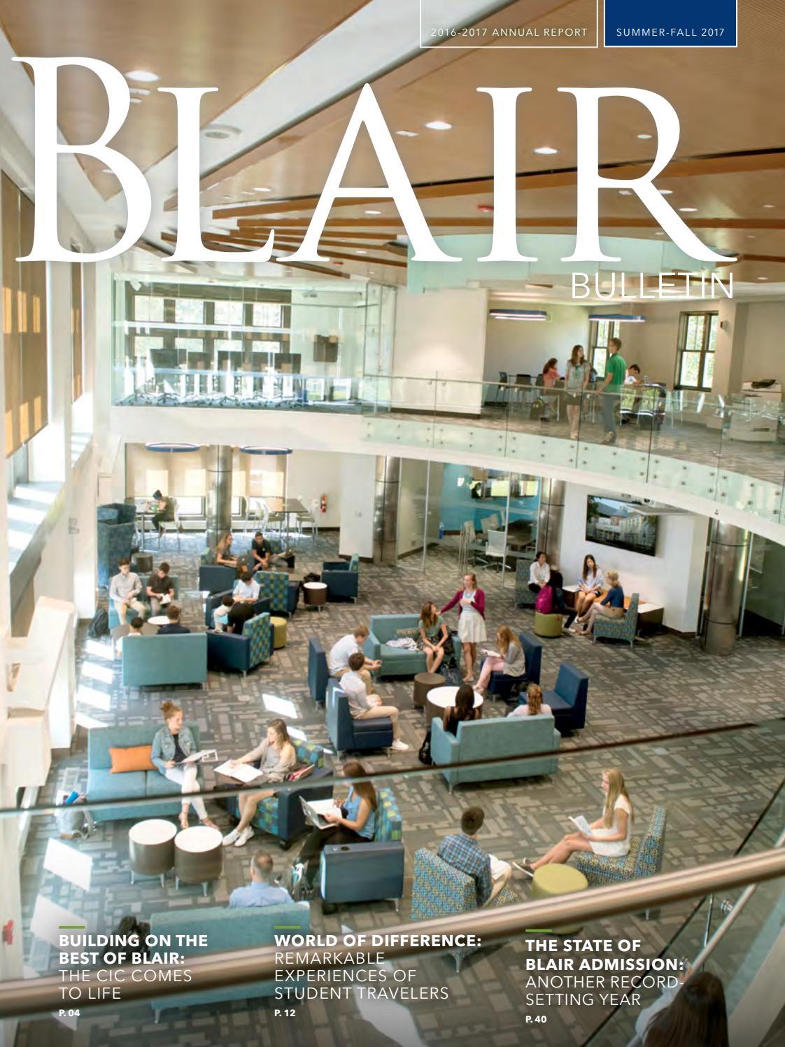 Summer Fall 2017 Bulletin By Blair Academy Issuu Inside Flats Cariana Navy 38