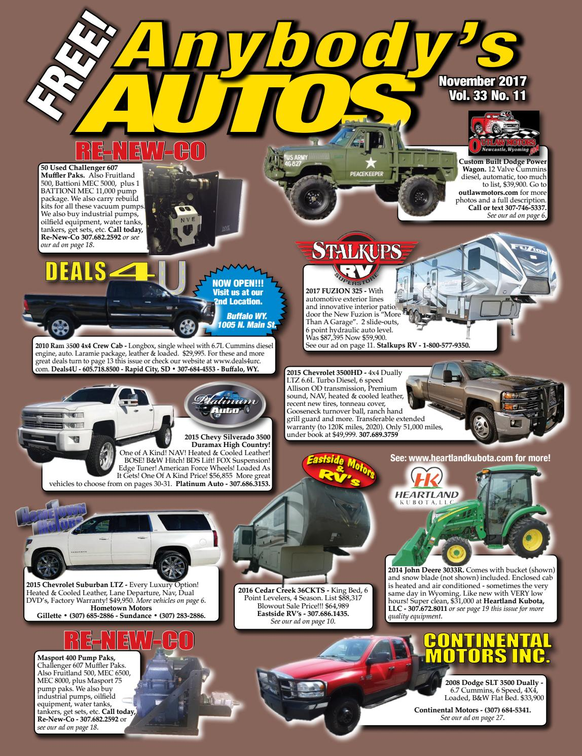 November 2017 by Anybodys Autos - issuu