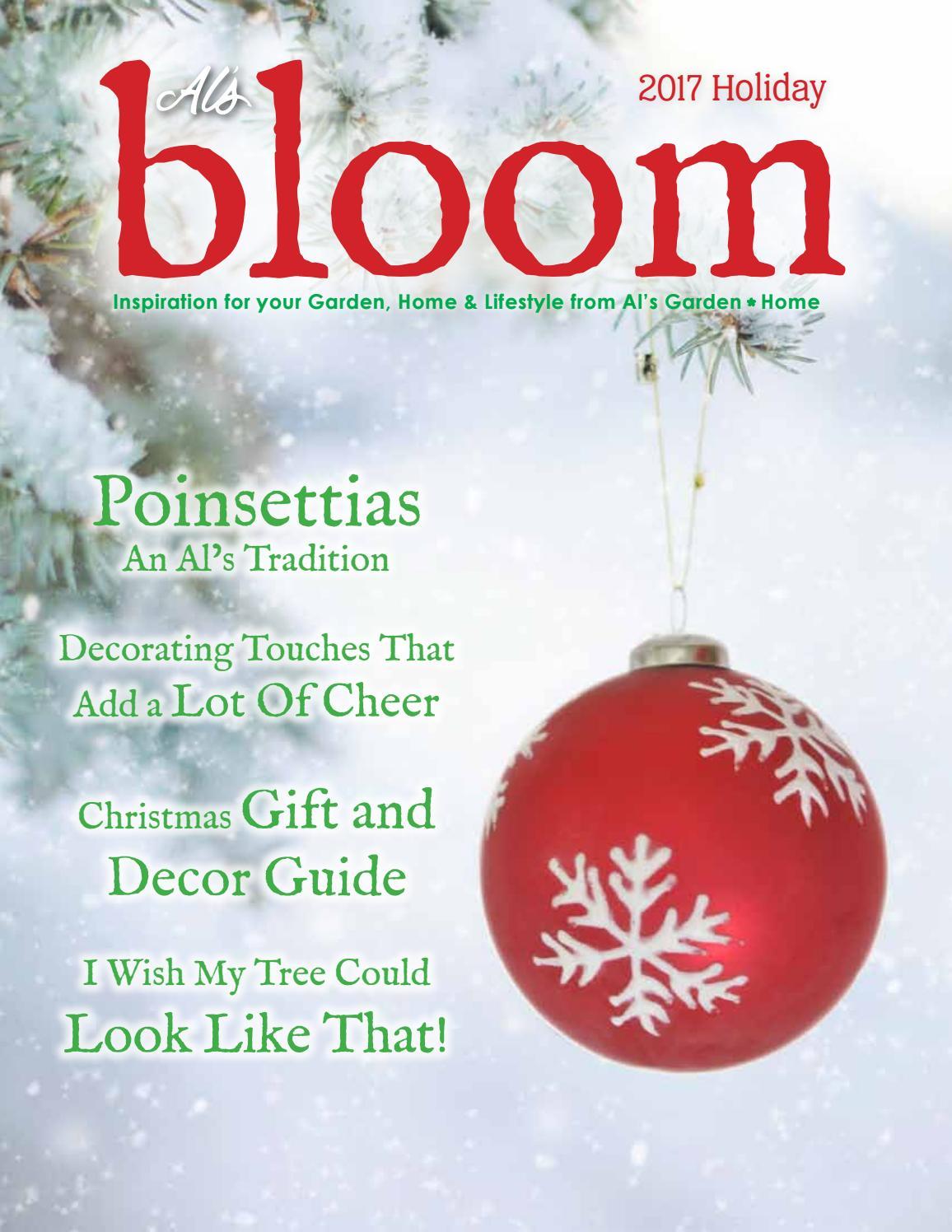 Bloom Magazine Holiday 2017 By Al 39 S Garden Center Issuu