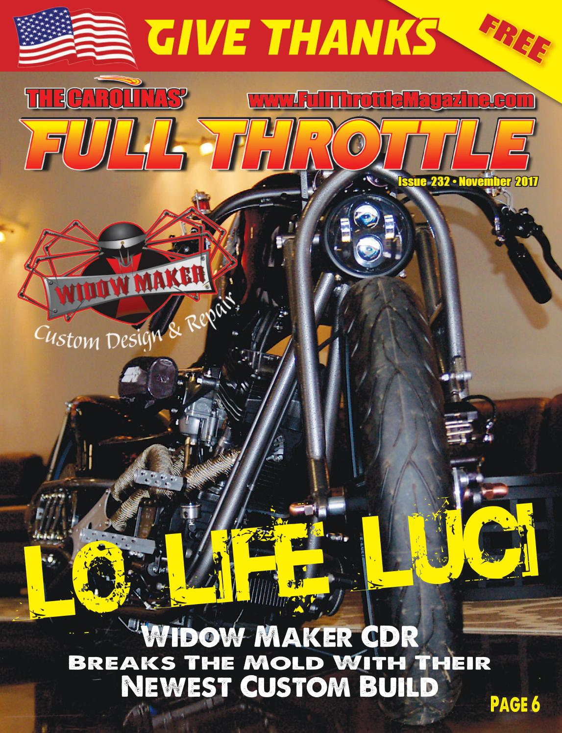 November 2017 issue 232 by the carolinas 39 full throttle - Cruisin carolina magazine ...