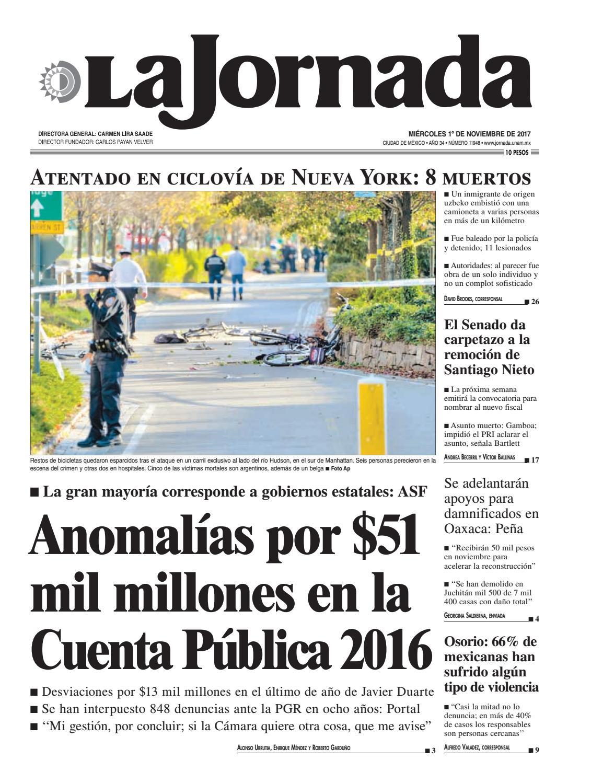 La Jornada, 11/01/2017 by La Jornada: DEMOS Desarrollo de Medios SA ...