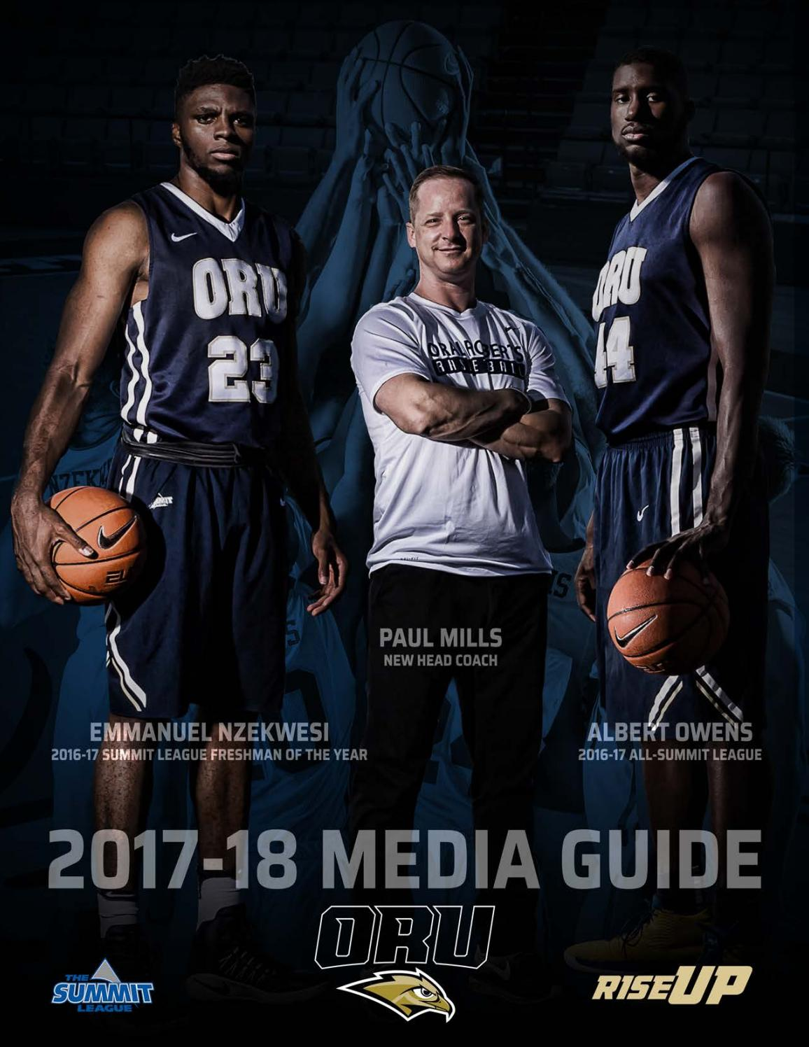 2017-18 ORU Men's Basketball Media Guide by ORU Athletics