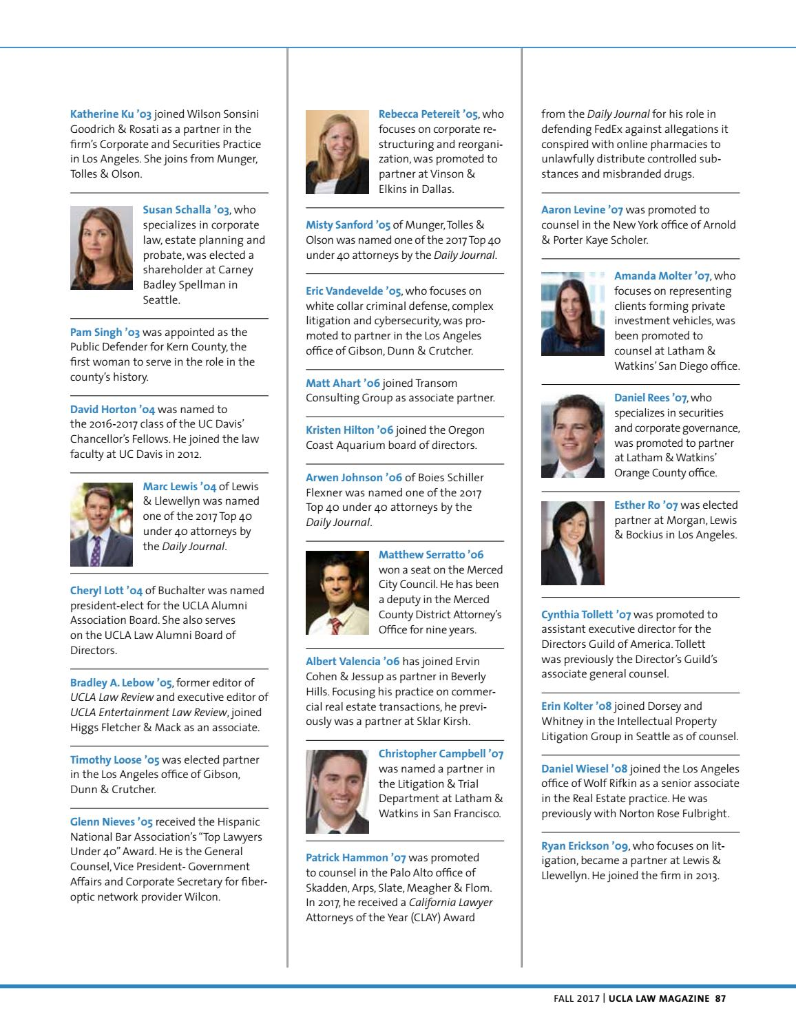 UCLA Law Magazine Fall 2017 by UCLA Law - issuu