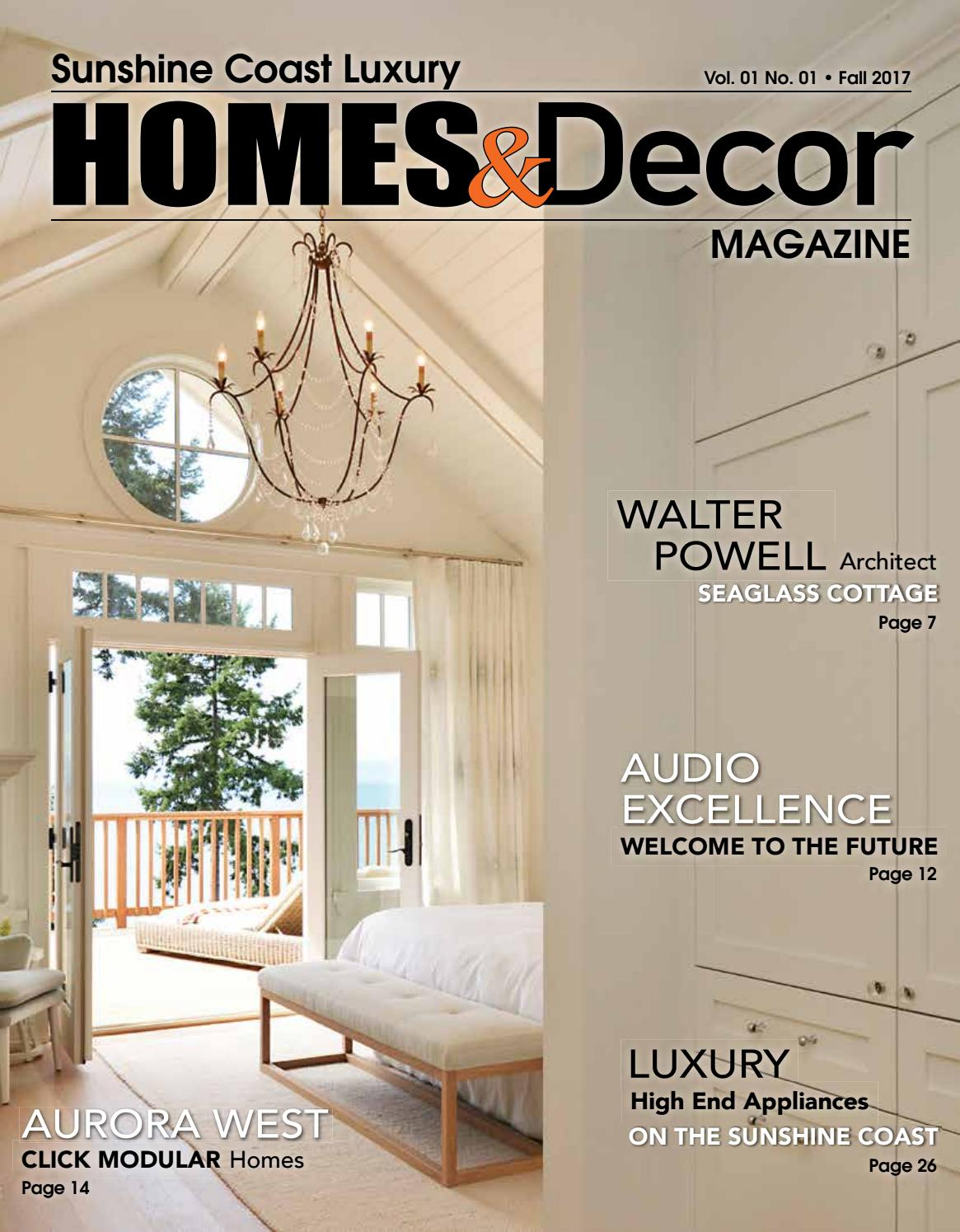Sunshine coast luxury homes decor 2017 by the local issuu for Luxury home design magazine