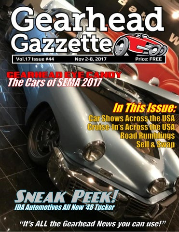 Gearhead Gazzette Vol Issue Nov By Jimmy B Issuu - Freddy's car show tucson