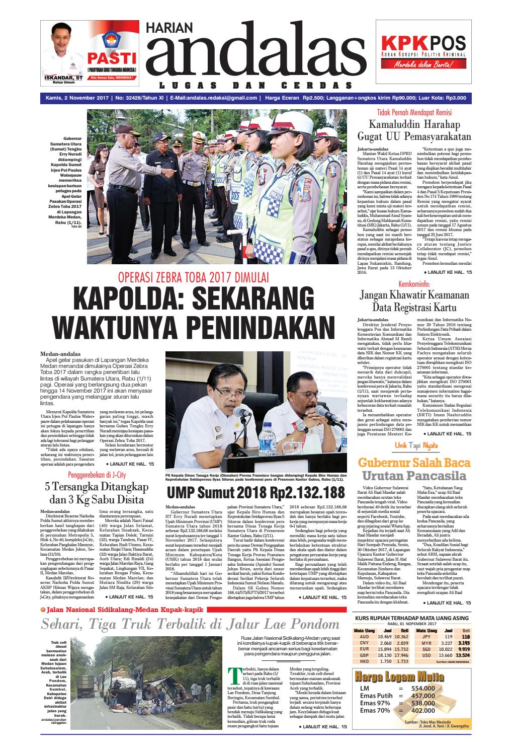 Epaper Andalas Edisi Kamis 2 November 2017 By Media Andalas Issuu