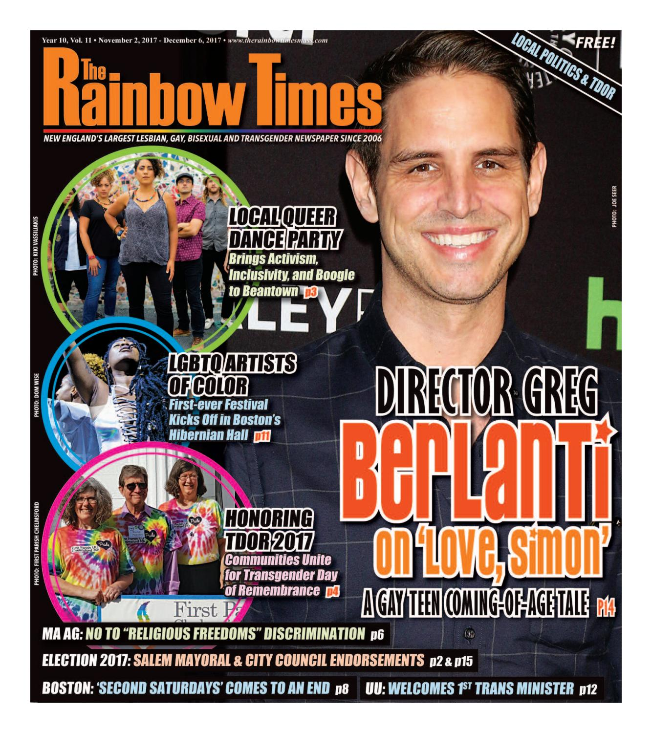 The Rainbow Times' November 2017 Issue