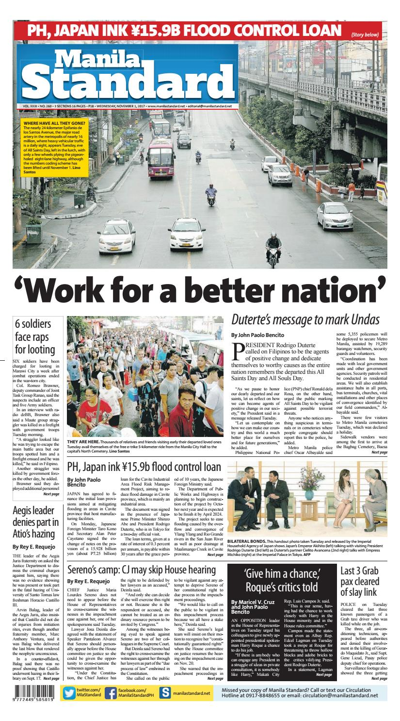 Manila Standard - 2017 November 01 - Wednesday by Manila