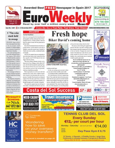 d89797539065 Euro Weekly News - Costa del Sol 2 – 8 November 2017 Issue 1687 by ...