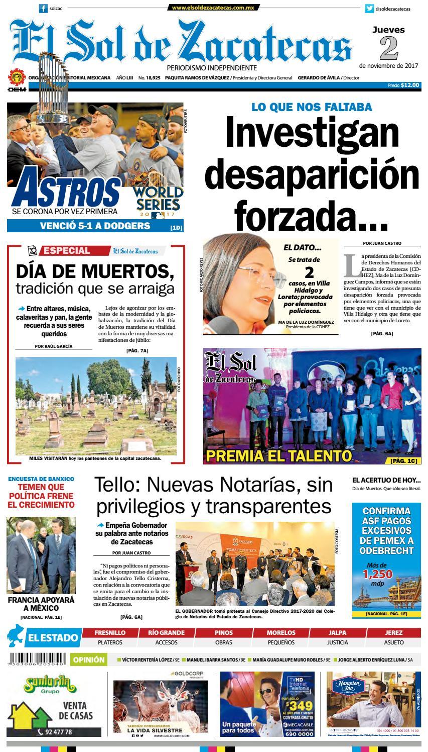 El Sol de Zacatecas 2 de noviembre 2017 by El Sol de Zacatecas - issuu ca1c6f5d098
