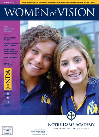 half off eaba9 bb7bc Woman of Vision - Fall 2017 by Notre Dame Academy - issuu