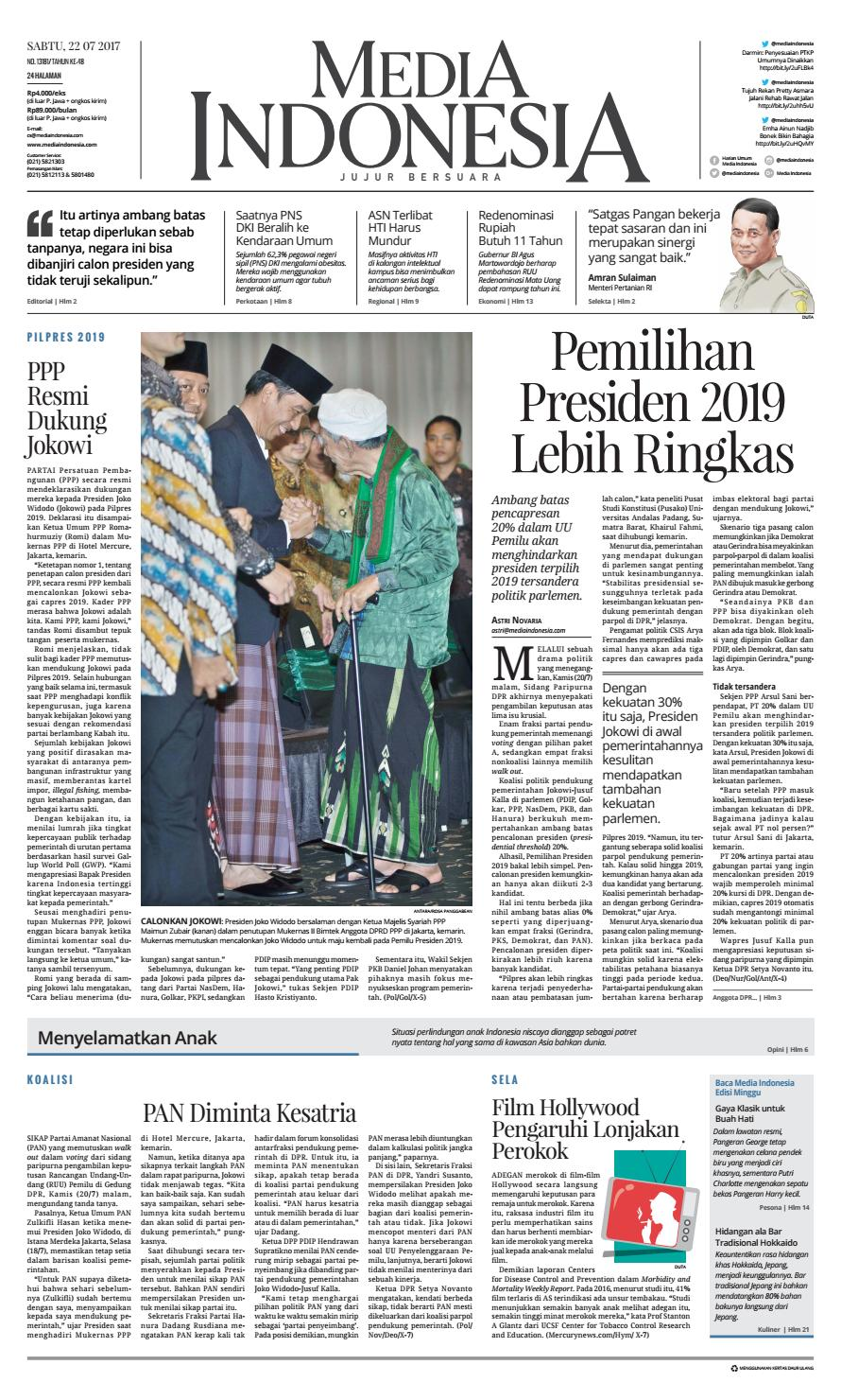 Media Indonesia 22 07 2017 27072017053713 By Oppah Issuu