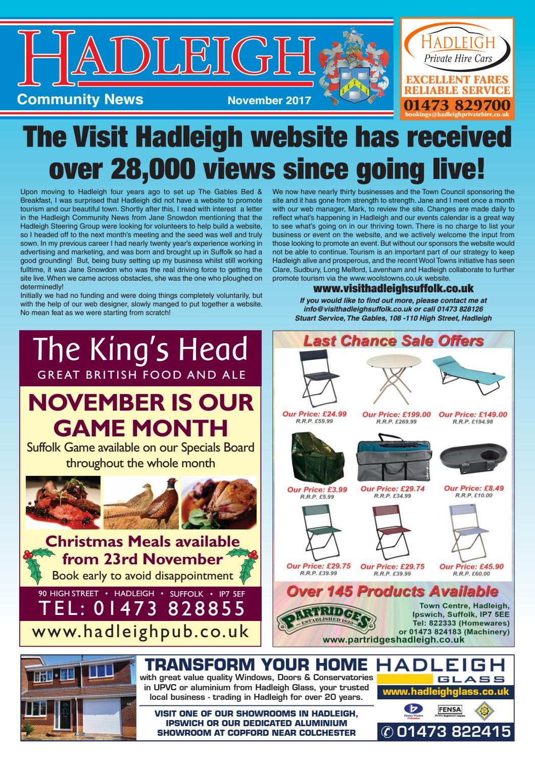 Hadleigh community news november 2017 by keith avis printers issuu fandeluxe Choice Image