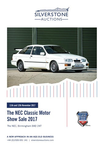 Silverstone Auctions The NEC Classic Motor Show Sale 2017 11u002612 ...
