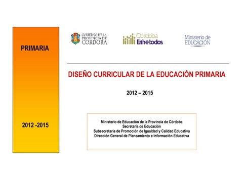 Diseño Curricular De La Educación Primaria By Marilyn