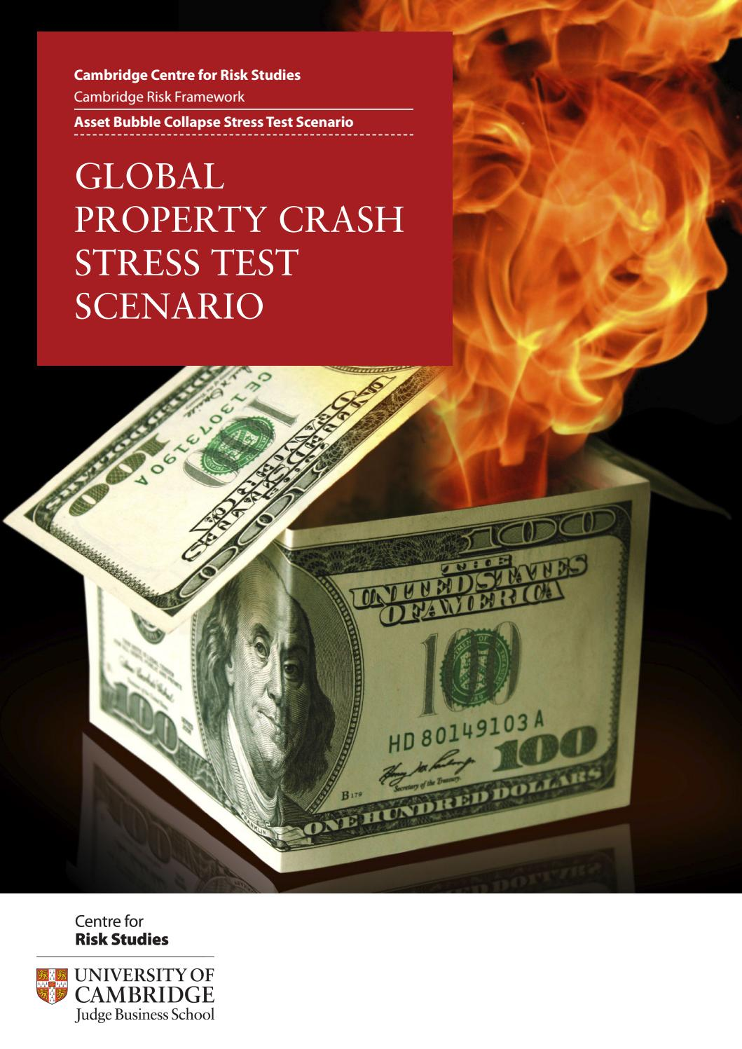 Global property crash financial catastrophe by Cambridge
