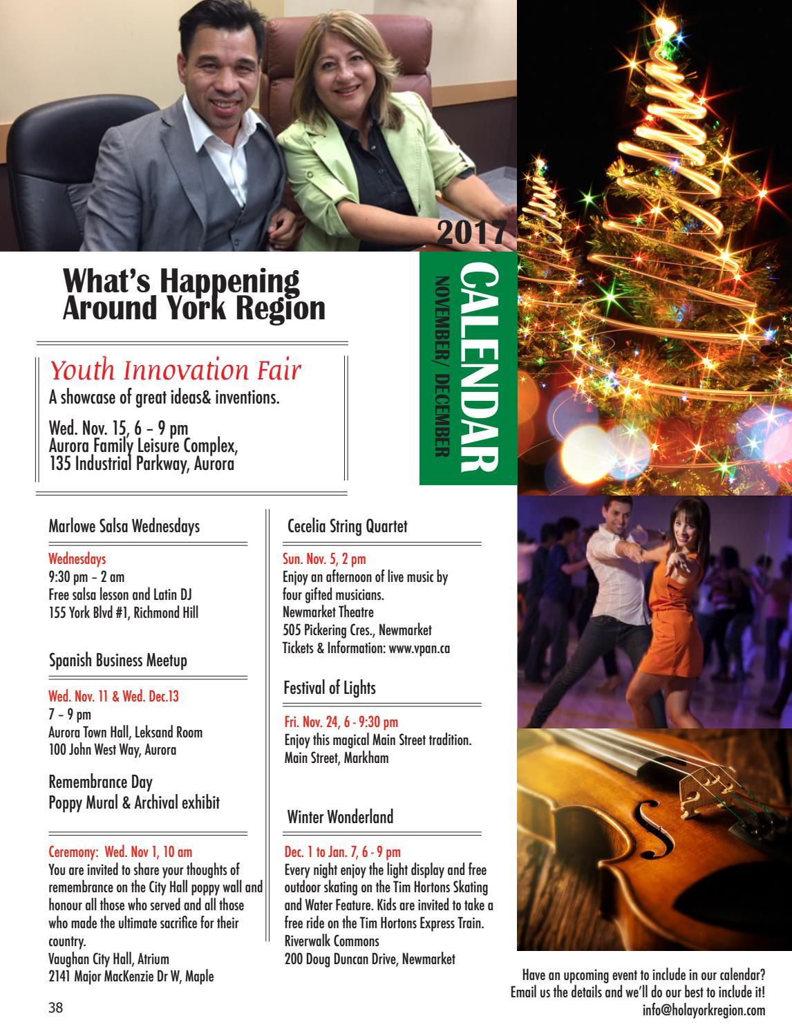 Hola York Region November December 2017 By Magazine