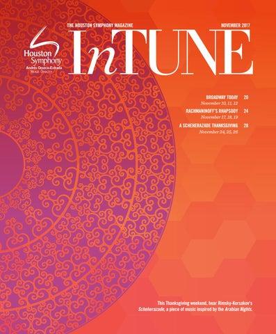Intune The Houston Symphony Magazine November 2017 By Houston