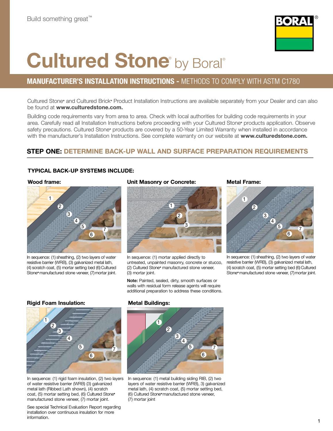 BORAL Cultured Stone - Installation guide by Mega Centre Montreal