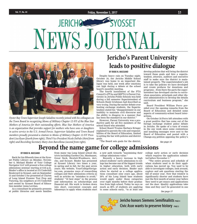 beliebte Marke Bestseller einkaufen Fabrik Jericho news journal 11 3 2017 by Litmor Publishing - issuu