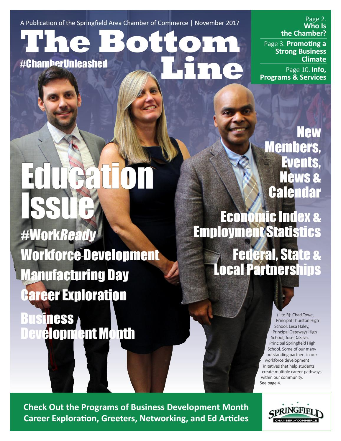 The Bottom Line November 2017 by Springfield Area Chamber of