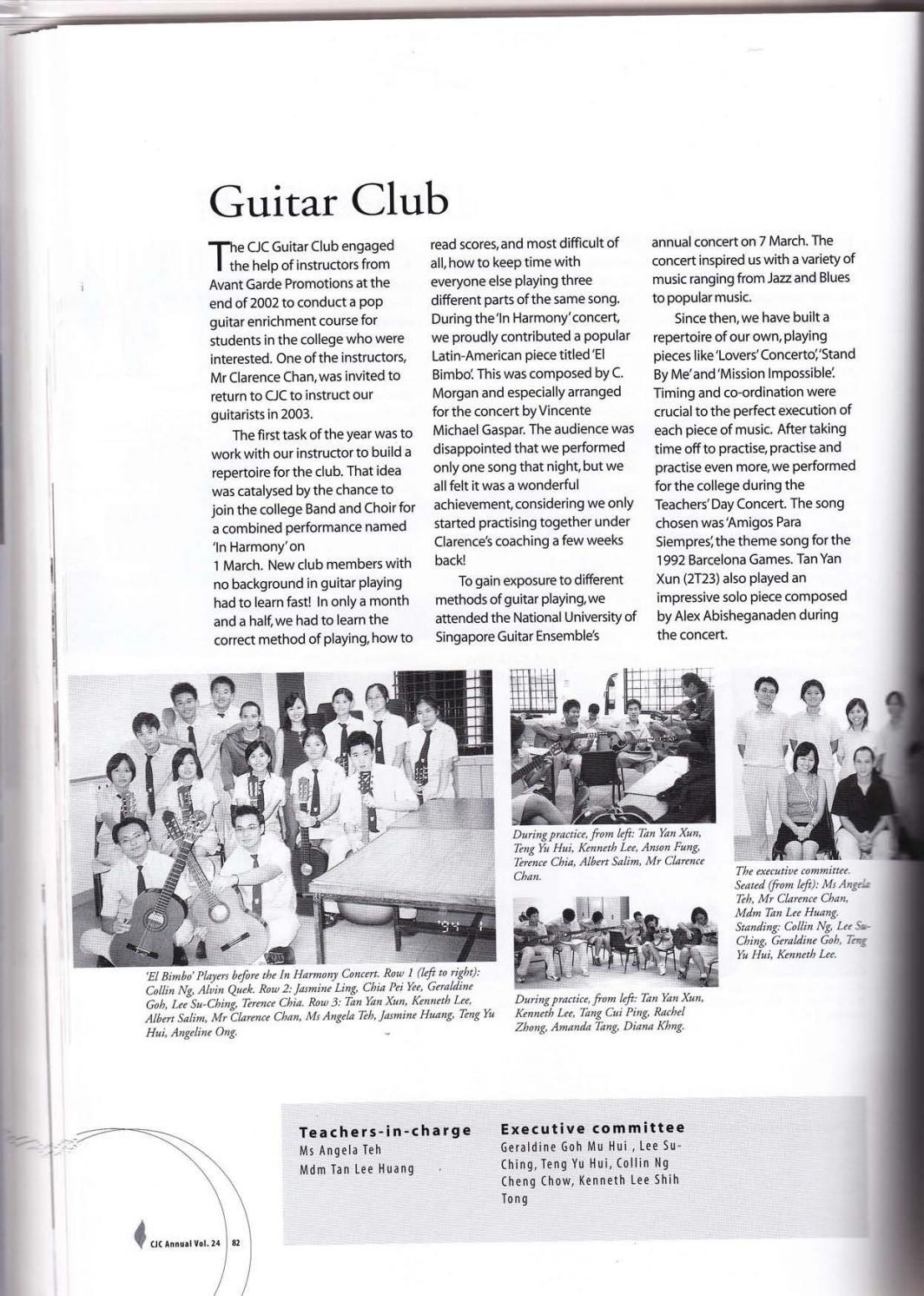 CJC Yearbook 2003 by Catholic JC - issuu