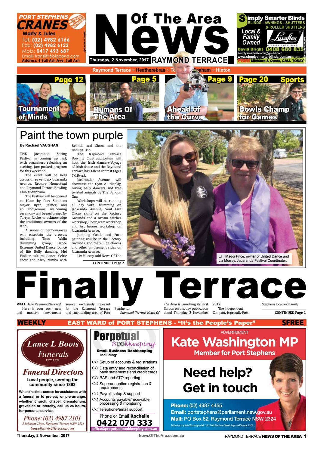Raymond terrace news of the area 2 november 2017 by News Of