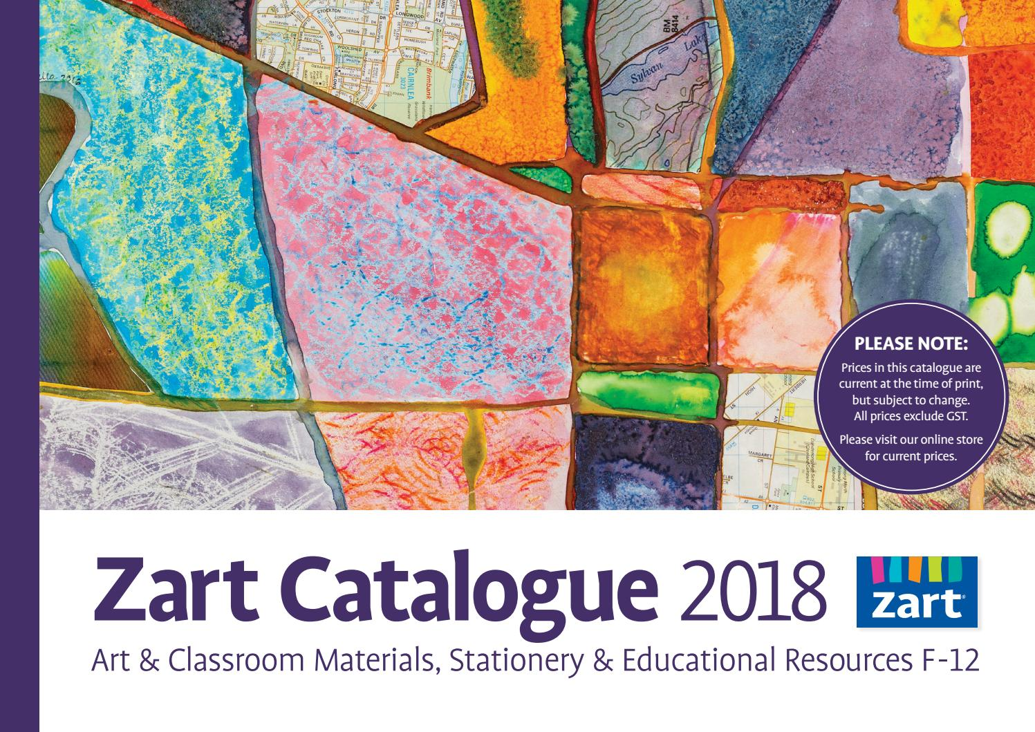Zart School Catalogue 2018 by Zart : Art, craft and education