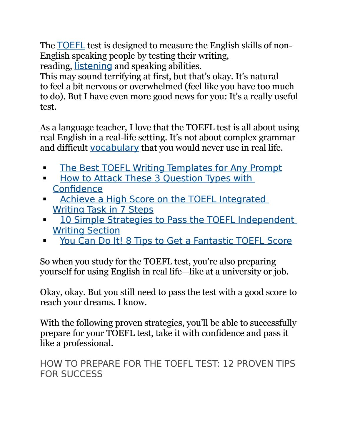 12 Proven Tips For Success By Wiki Toefl Issuu