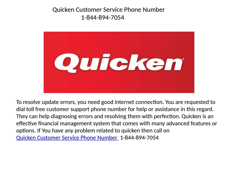 quicken supporquicken contact tech support phone number 1-844-894