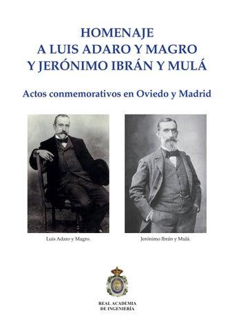 420a5a715c65 Homenaje A Luis Adaro y Magro y Jerónimo Ibrán y Mulá Actos conmemorativos  en Oviedo y Madrid
