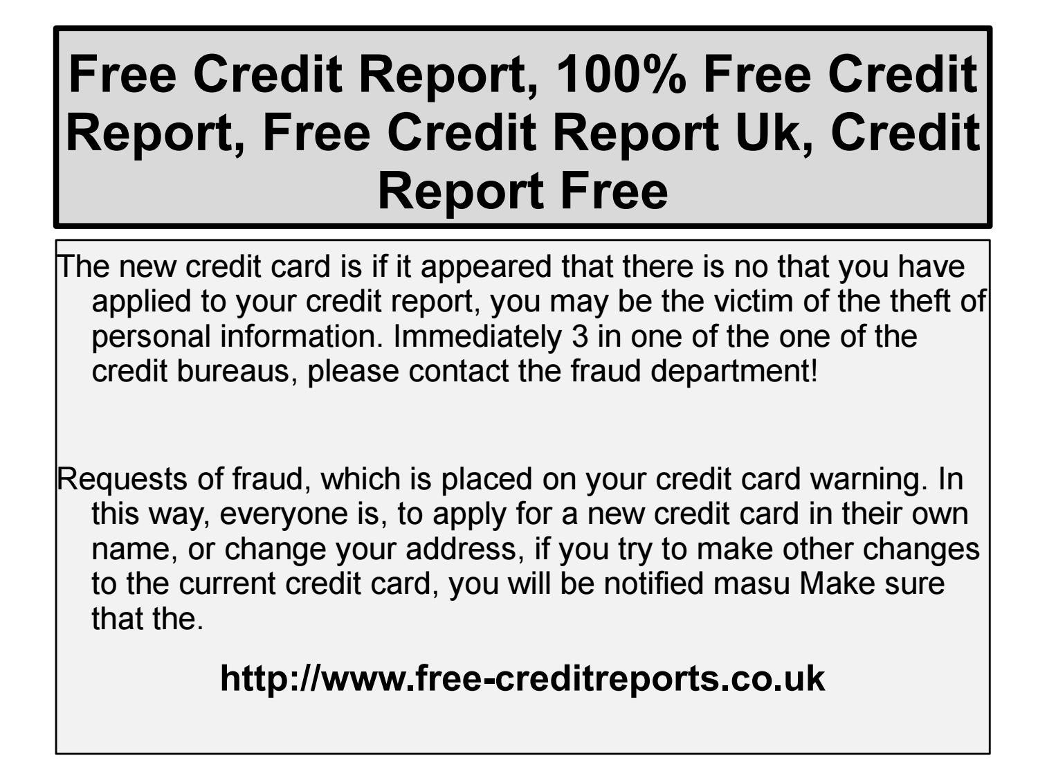 100 Free Credit Report Http Www Free Creditreports Co Uk By Anderson Corry Issuu