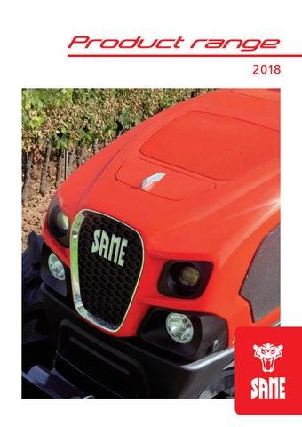 SAME - Product Range 2018 - English by SAME - Tractors - issuu