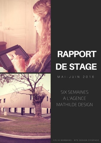 Rapport De Stage Mathilde Design 2016 By Célia Normand Issuu