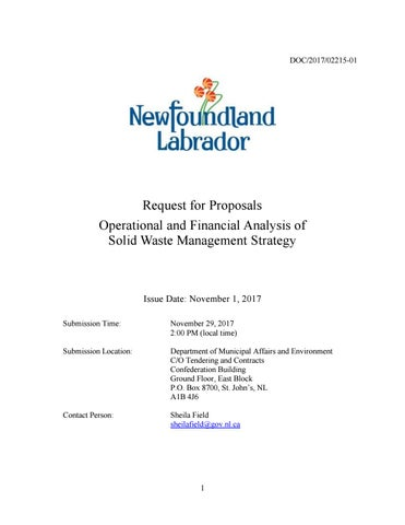 Request for proposal rfp wm operational analysis by