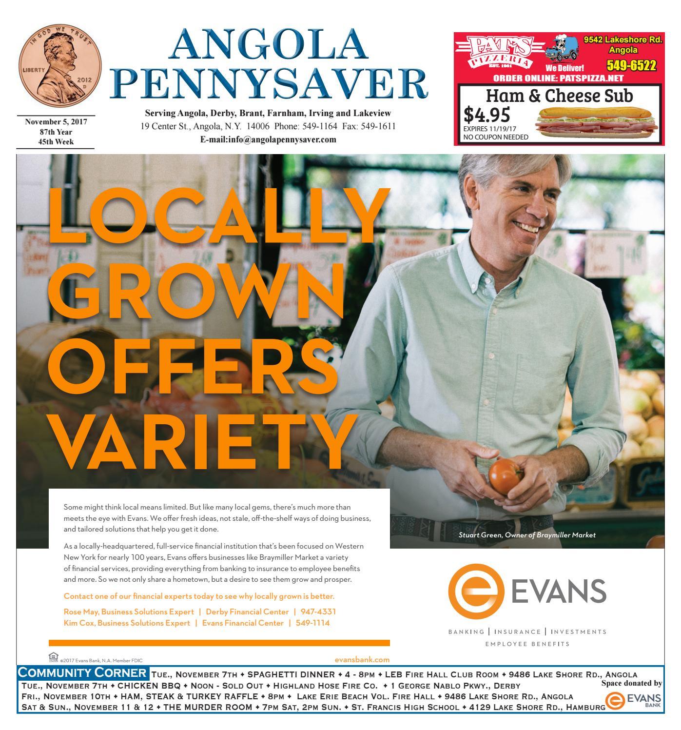11/5/17 Angola Pennysaver