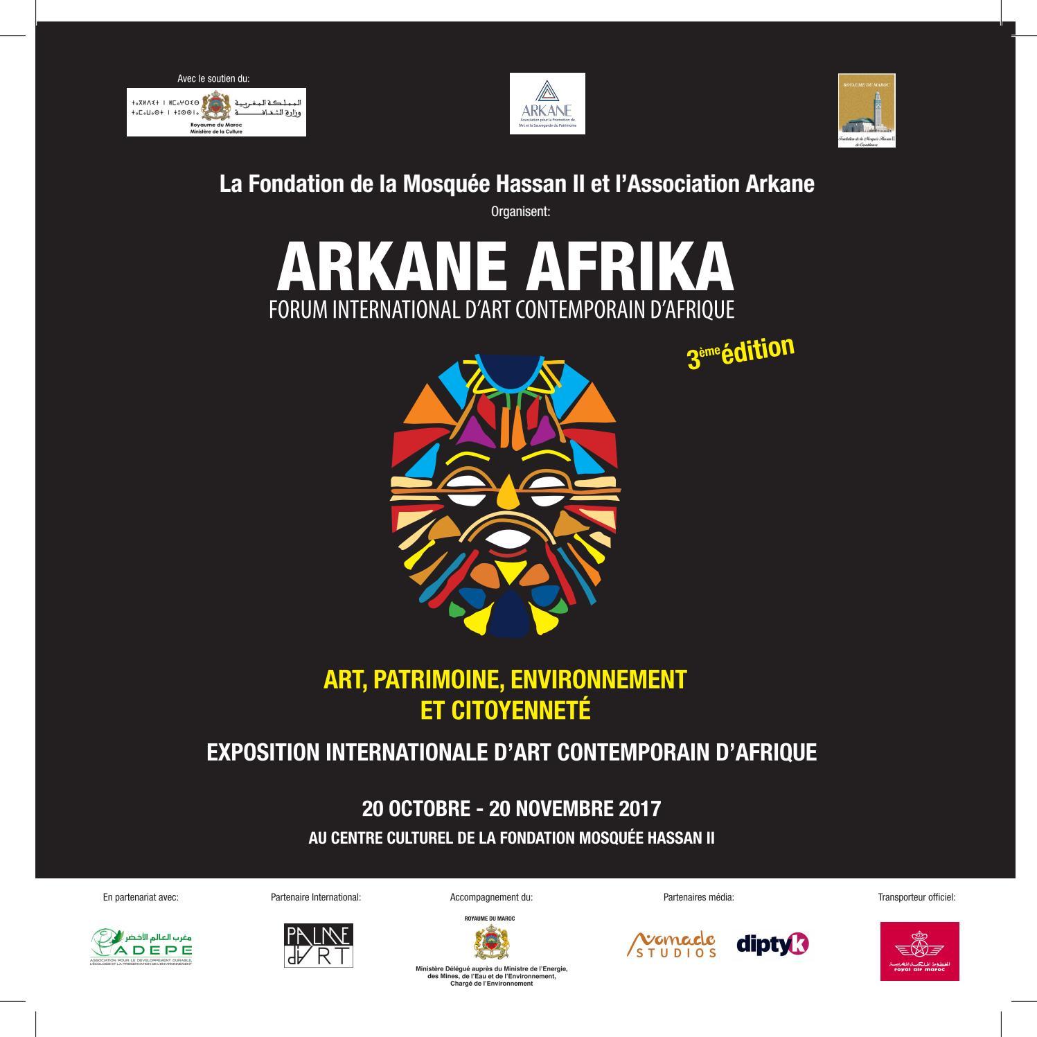 Peintre Contemporain Célèbre Vivant catalogue arkane afrika 3ème édition exposition art